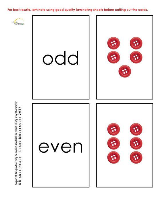 Montessori Curriculum  Mathematics: Odd and by LearnMontessori