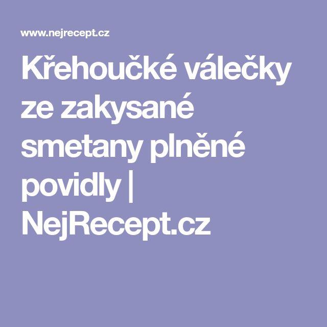Křehoučké válečky ze zakysané smetany plněné povidly | NejRecept.cz