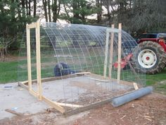Our Hoop House/chicken tractor   BackYard Chickens