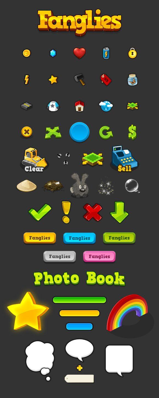 Q版游戏【Fanglies】UI图标欣赏...