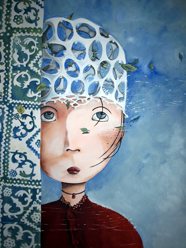Mural by l'artquebuse based on 'Princess Amnesia' by Rébecca Dautremer
