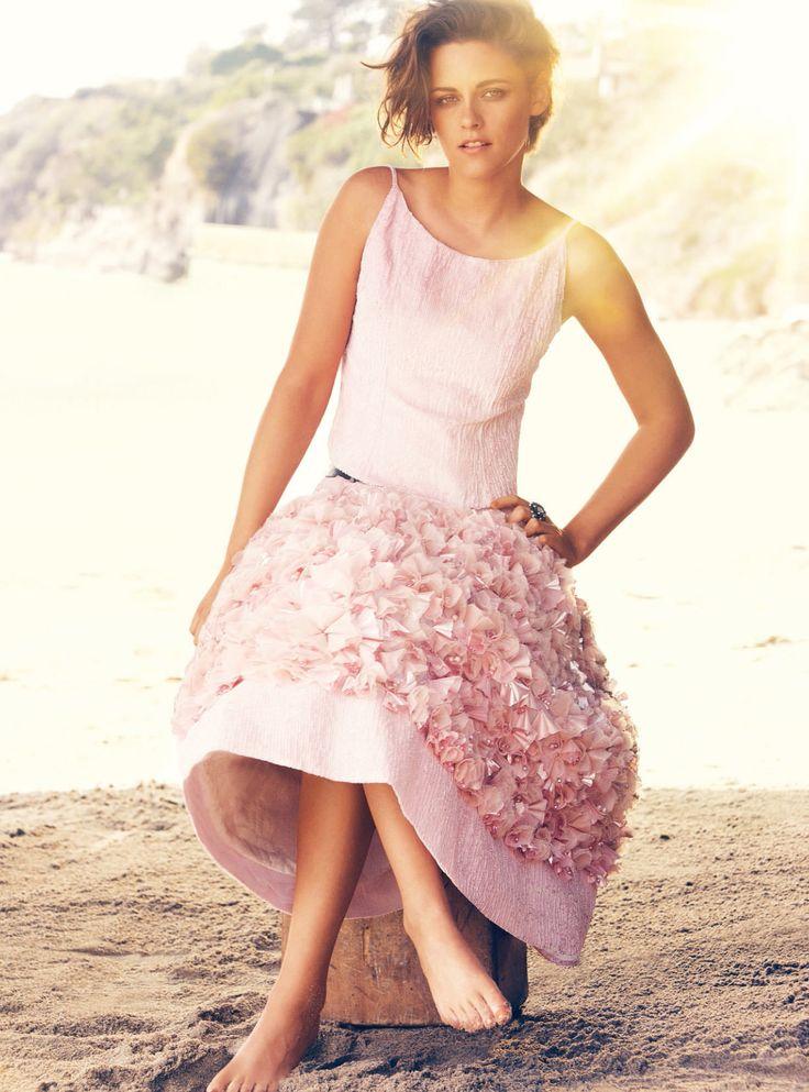 Kristen Stewart in Chanel haute couture photographed by Alexi Lubomirski for Harper's Bazaar UK, June 2015.