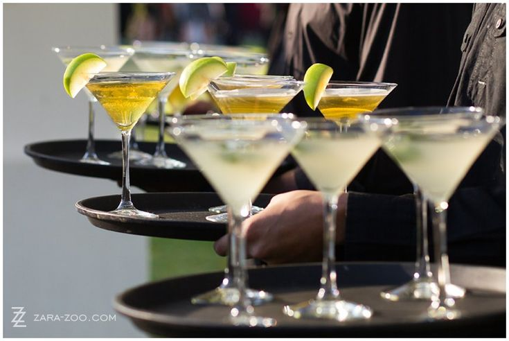 Margaritas served as refreshment at the pre-reception drinks area.  See more of this #wedding at #Brennaisance #Stellenbosch on the #ZaraZoo blog http://www.zara-zoo.com/blog/wedding-at-brenaissance/ #weddingcatering #weddingvenue #capetown #Margarita