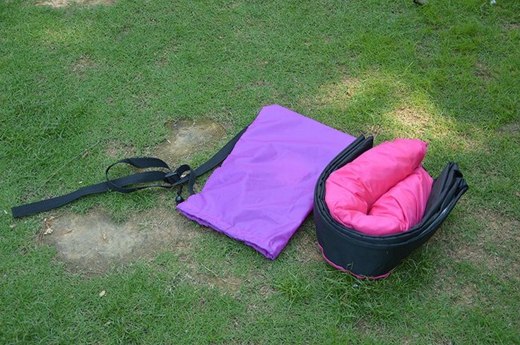 Новый быстронадуваемый спальный мешок, биван, сверхлегкий пляжный надувной диван, надувной гамак, лежак, нейлоновый надувной водный банан для катания по воде, шезлонг купить на AliExpress