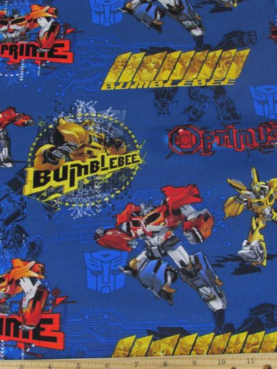Transformers Fabric Hasbro Transformer Prime by overstockfabric