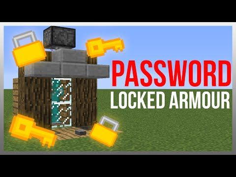 Minecraft 1.9: Redstone Tutorial - Password Armour Lock! - YouTube