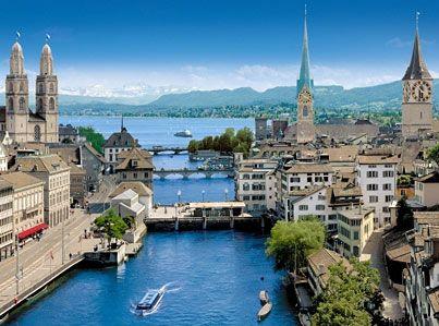 Zurich, Switzerland. It's sooo blue...