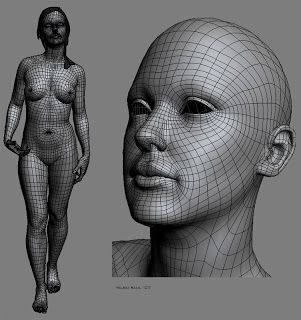 High-poly sub-division female head and body. (artist: Teleki Raul Joshua)