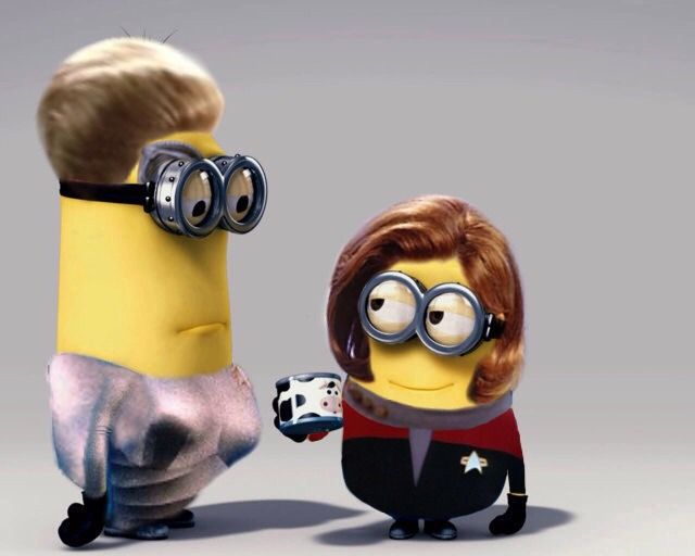 Seven and Janeway Minions