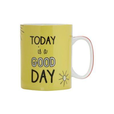 Ben de Lisi Home Designer yellow 'Good day' giant mug- at Debenhams.com