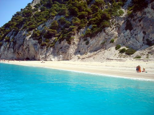 Lefkada, Greece. Egremnoi beach