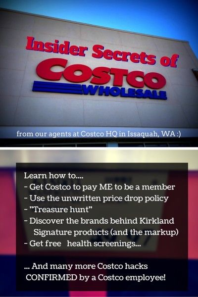I was able to enlist the help of a few insiders to bring you the most comprehensive list of Costco hacks. See how Costco pays ME to be a member, which brands are actually Kirkland Signature products, and much much more. Don't miss it.