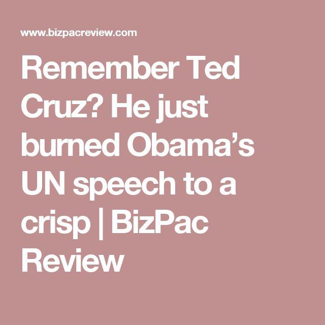 Remember Ted Cruz? He just burned Obama's UN speech to a crisp | BizPac Review