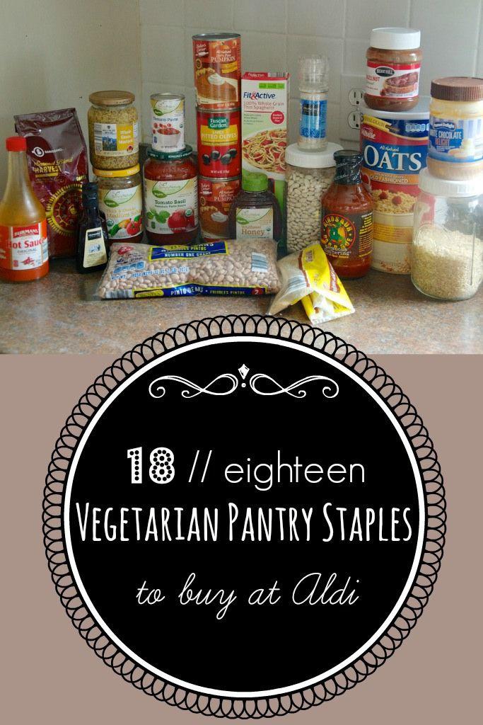 {never} homemaker: 18 Vegetarian Staples at Aldi