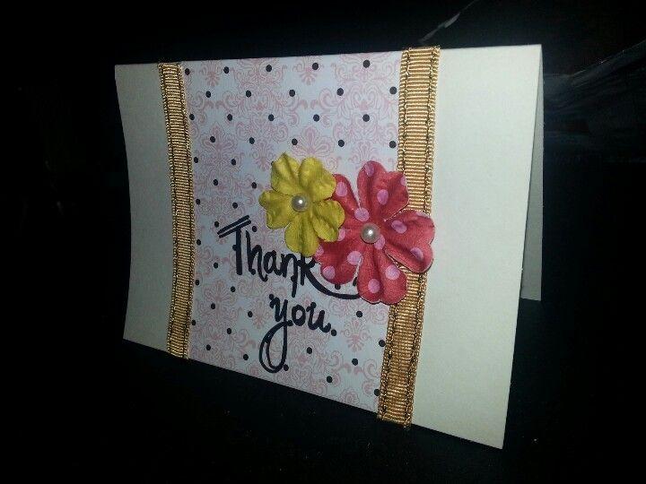 Elegant polka dot series thank you card