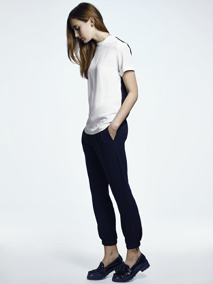 BE BRAVE TOP IN BLACK AND WHITE, BLANK GENERATION TROUSERS IN BLACK - FWSS SU13 http://fallwinterspringsummer.com