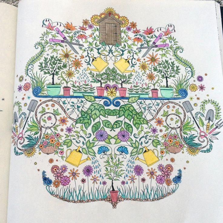 17 Best Images About Secret Garden Coloring Pages On Pinterest Secret Garden Colouring Copic