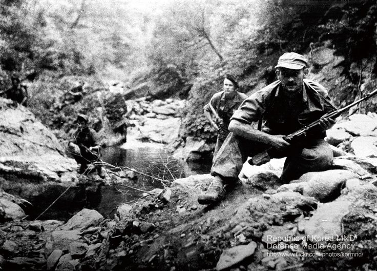 The korean war was fought by forces of which nations and