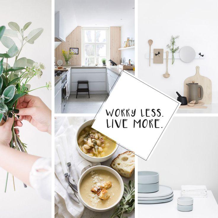 Moodboard #89 — Worry less. Live more.   Peek Inside