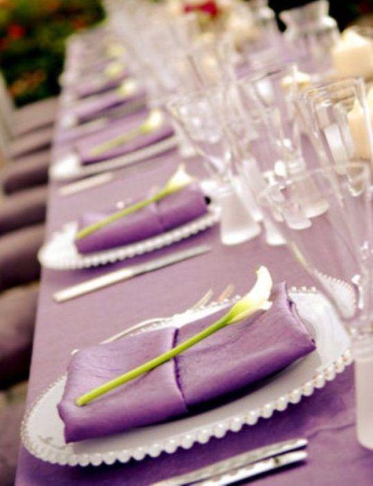 Image Detail For  Purple Wedding Theme Ideas_purple Reception Table Setup  Decorations Part 40