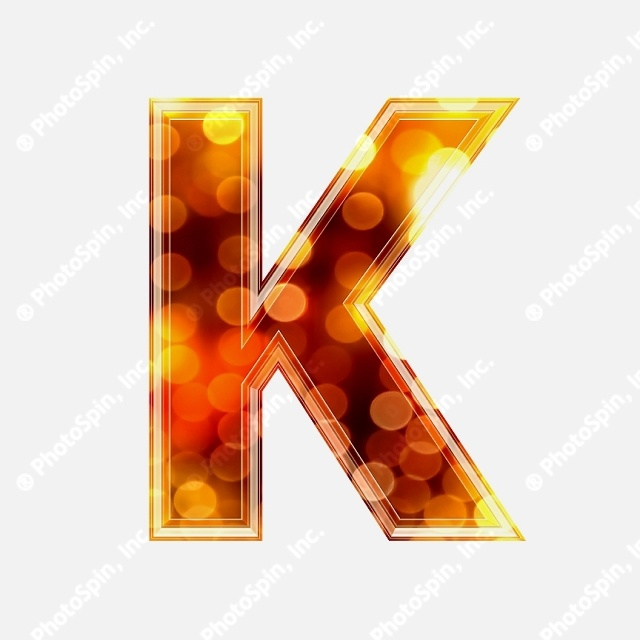 3D letter with glowing lights texture - K by Chrisroll