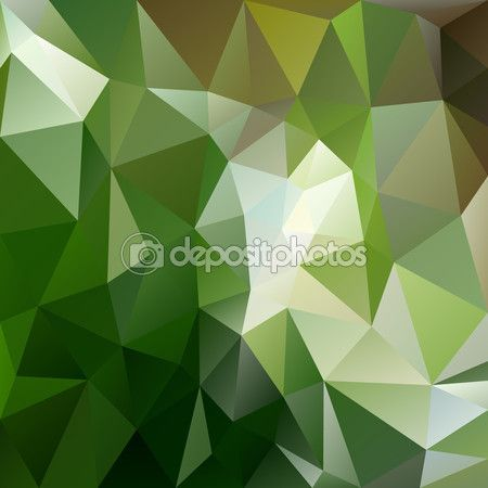 Векторный фон треугольный дизайн в зеленых лесных цветах — стоковая иллюстрация…