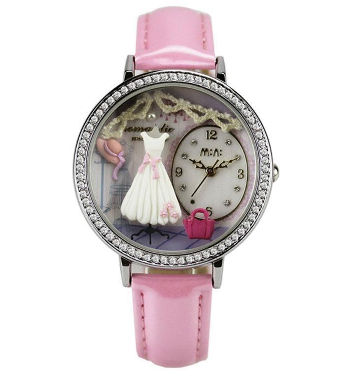 REF.29 Reloj con mini-figuras en 3d porcelana fría.  100% originales, garantía 1 año.