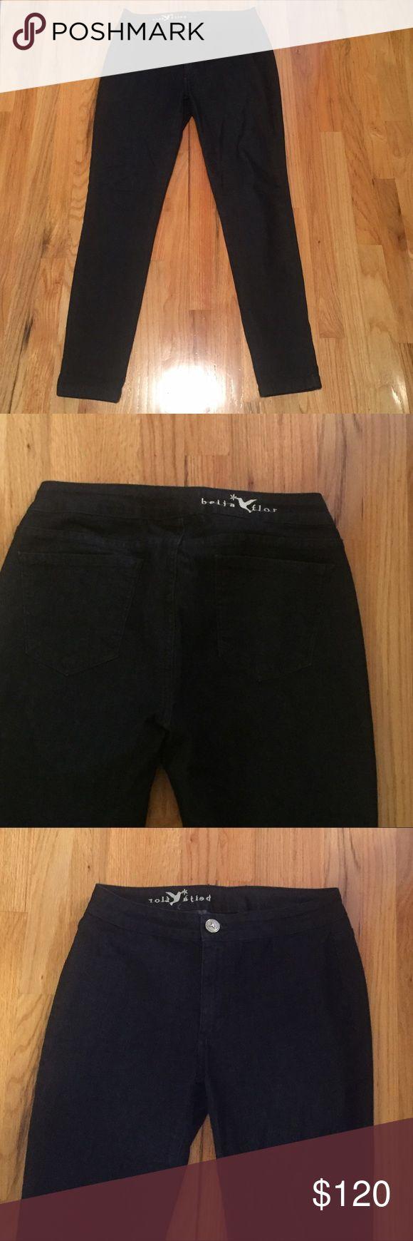 NWOT BEIJA FLOR - dark denim jeans NWOT BEIJA FLOR dark denim jeans - Stephanie Blue jegging - excellent condition. Beija Flor Jeans