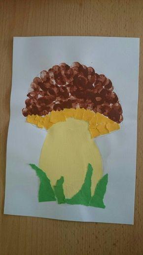 fingerprint mushroom craft | Crafts and Worksheets for Preschool,Toddler and Kindergarten