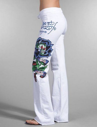 Ed hardy women s jeans white 15 ed hardy pinterest