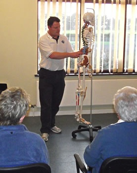 Adam Smith-Connor giving one of our very popular Back Pain seminars.