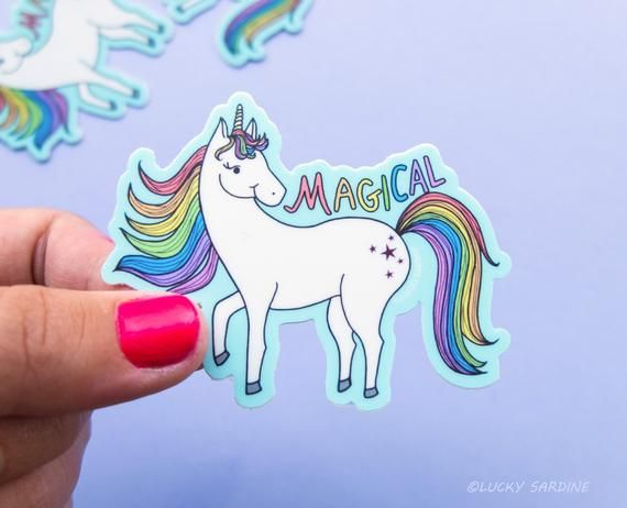 Unicorn Vinyl Sticker Magical Sticker Rainbow Cute Unicorn
