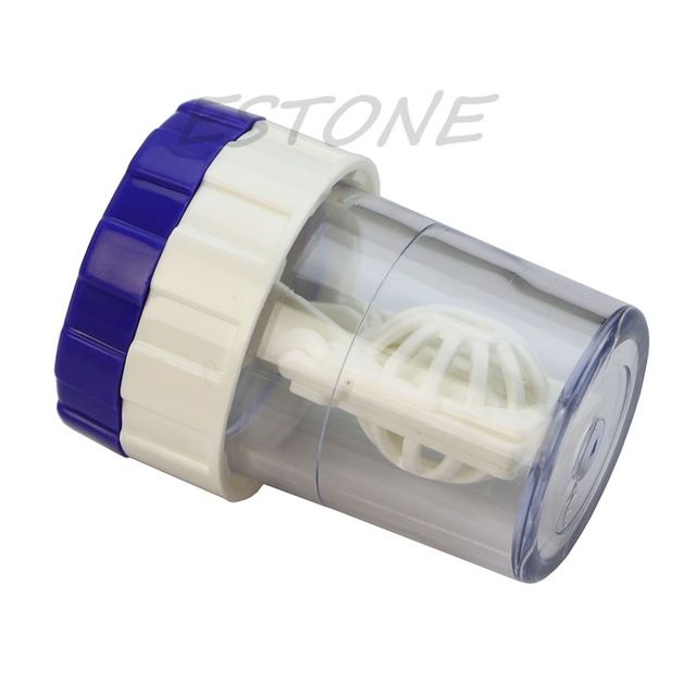 VENTE Manuellement Contact Lens Cleaner Laveuse Nettoyage Des Lentilles Case-J117