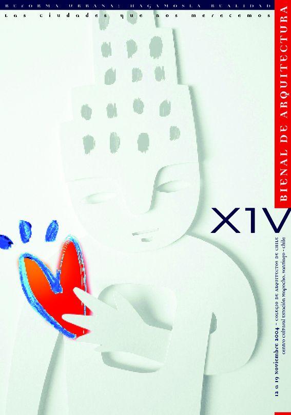 Afiche premiado en 14 Bienal de Arquitectura, Chile.