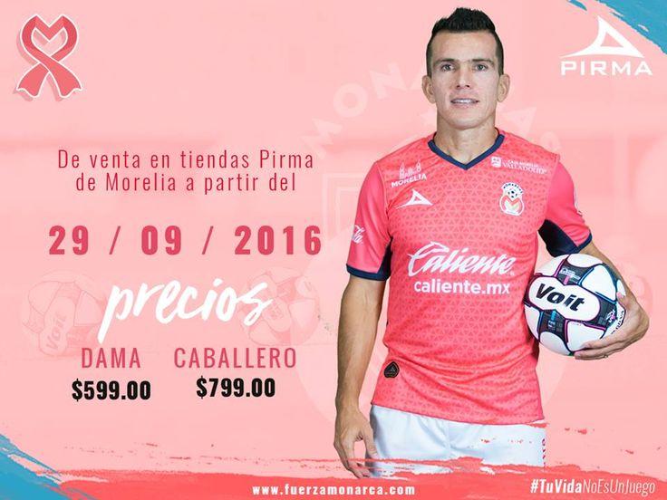 Camisa Outubro Rosa do Monarcas Morelia 2016-2017 Pirma