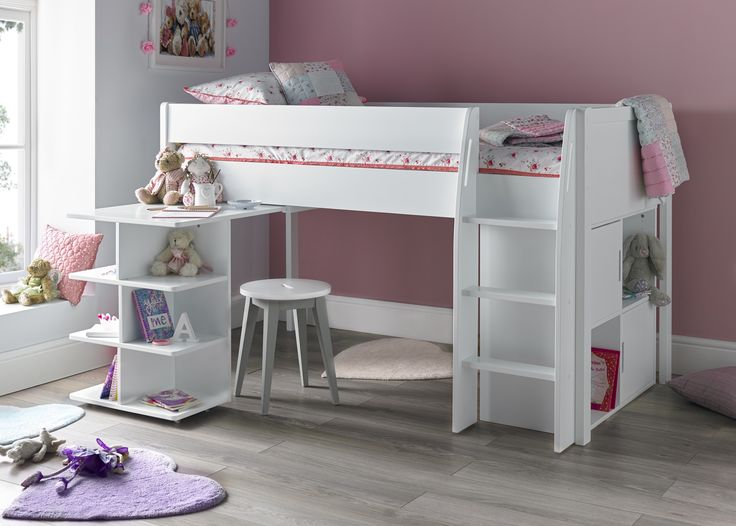 Mid Sleeper With Desk Open And Quad