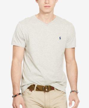 Polo Ralph Lauren Men's Core Medium-Fit V-Neck Cotton Jersey T-Shirt - New Heather Grey XXL