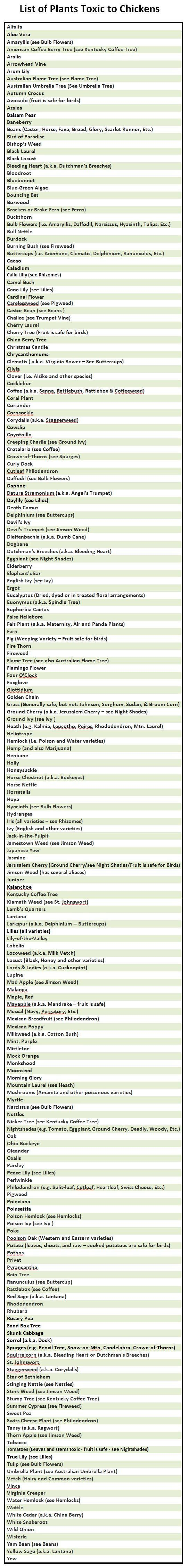 List Of Plants Toxic To Chickens | Urban Chicken Podcast