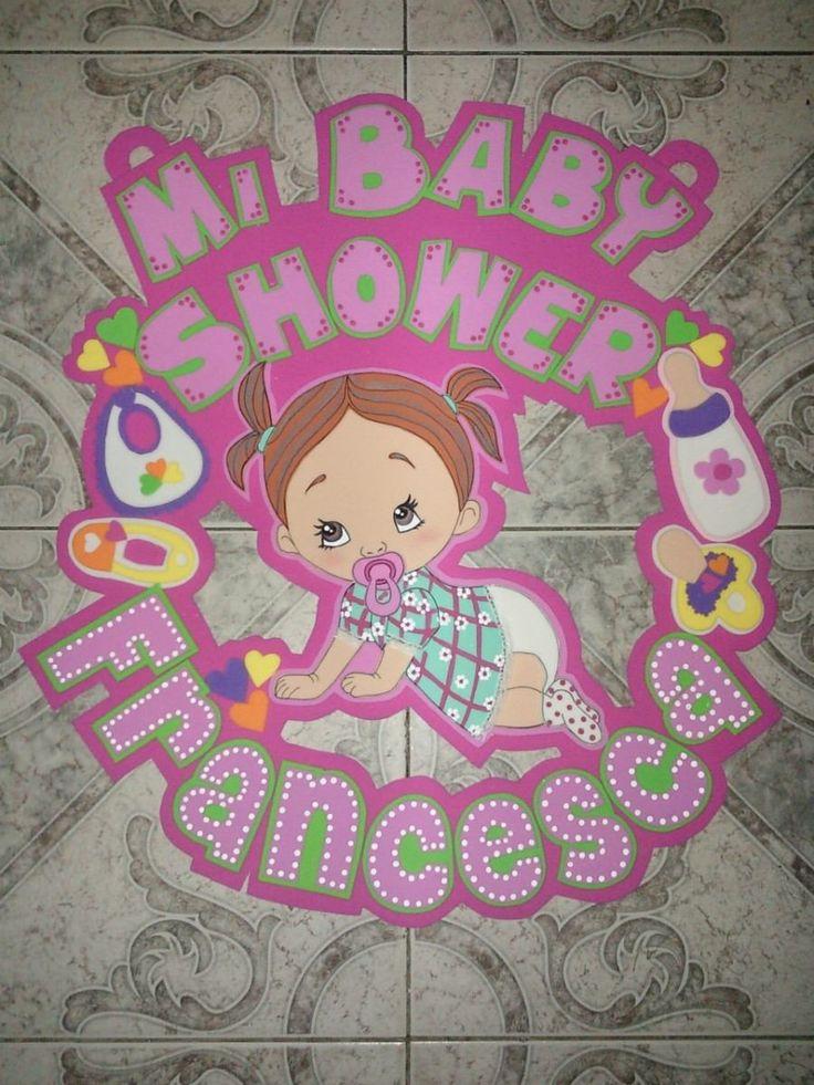 letreros para baby shower con fomi en color amarillo - Buscar con Google