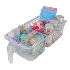 Storage Basket with 2 Compartment and Handle