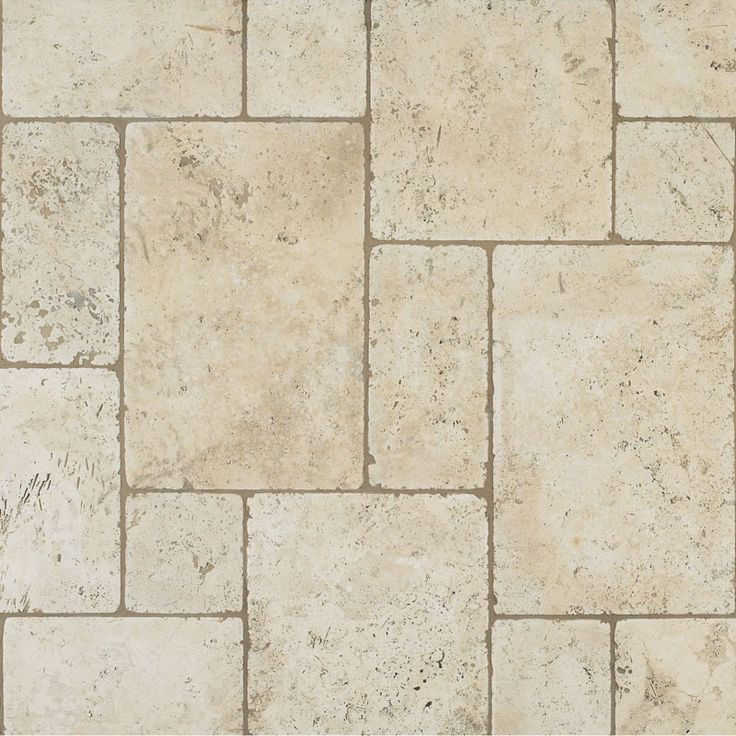 Tumbled Travertine Floor Versailles Pattern Basement