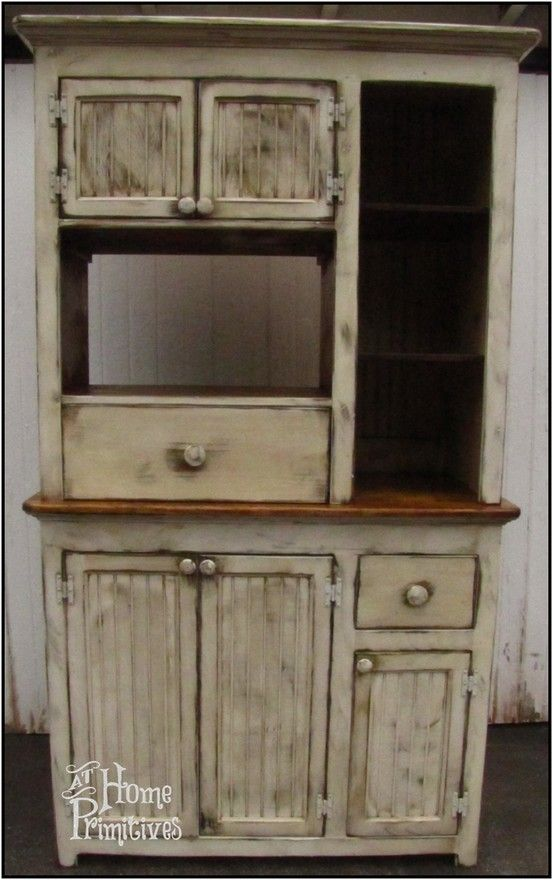 Primitive Microwave Hutch designed and built by At Home Primitives  Looks  old but has modern  Country FurniturePrimitive. 63 best Primitive Furniture images on Pinterest   Primitive