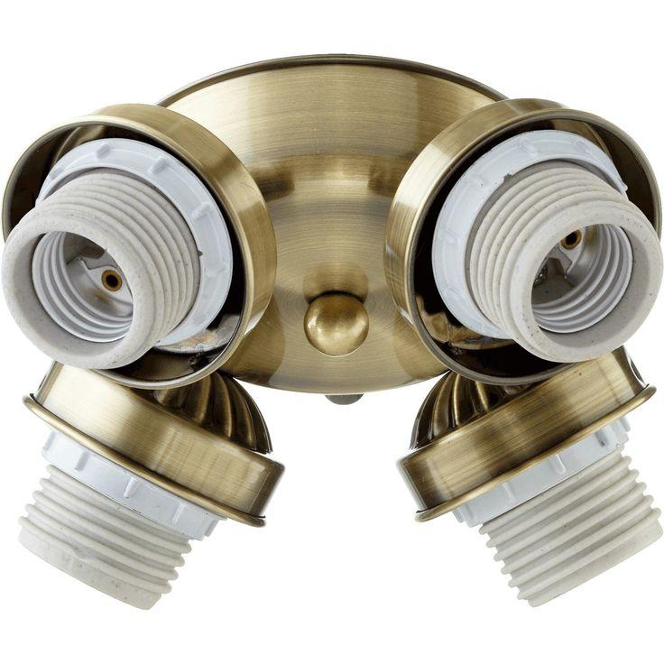 Quorum International Transitional Fan Light Kit - n/a (Antique Brass)