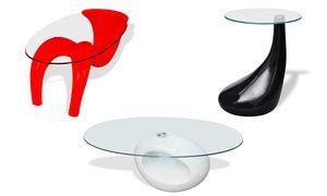Groupon - Tavoli di design con piano in vetro temperato. Vari modelli ...