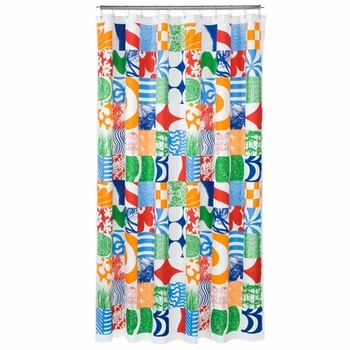 Marimekko Yhdess Multi-Colored Long Polyester Shower Curtain