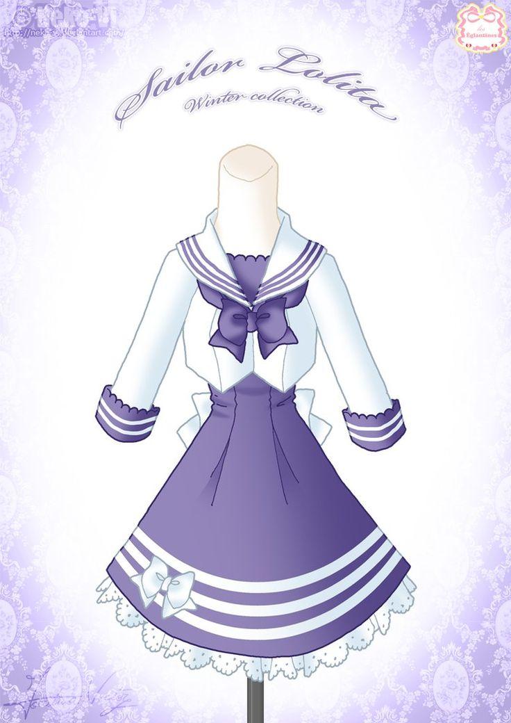 Sailor Lolita Winter Dress by Neko-Vi on DeviantArt