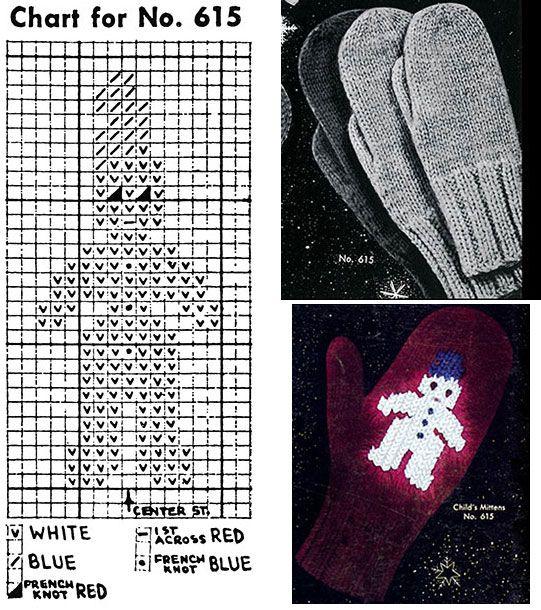 Classic Mittens Pattern #615   Knitting Patterns