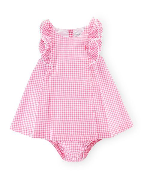 Gingham Cotton Dress Bloomer Baby Girl Dresses