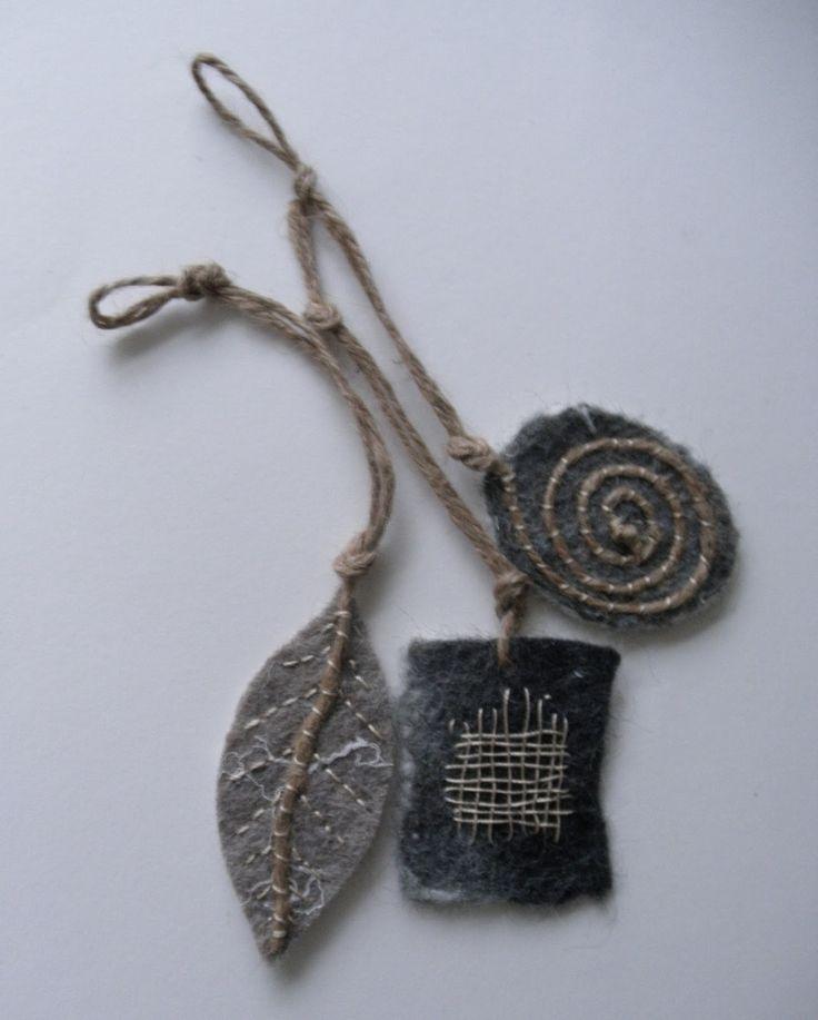 linda lammerts: stitched ornaments