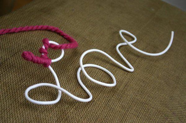 こんな【ウールレター】作ってみない?毛糸とワイヤーだけでOKな作り方はこれ!! | ギャザリー